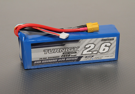 Battery Turnigy 2650mAh 6S 20C Lipo Pack