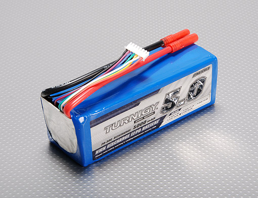 Pin Turnigy 5000mAh 6S 20C Lipo Pack